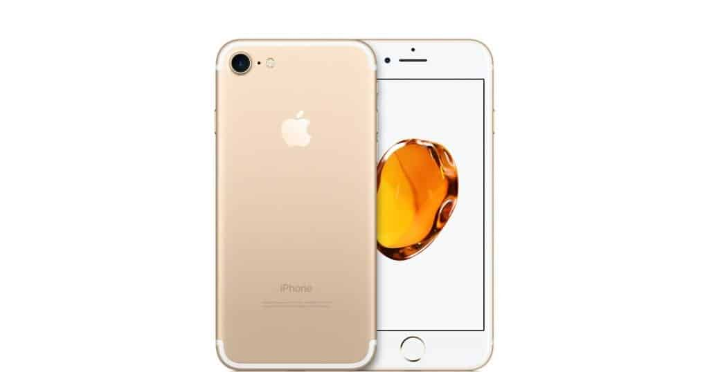Image of a refurbished iPhone gold select