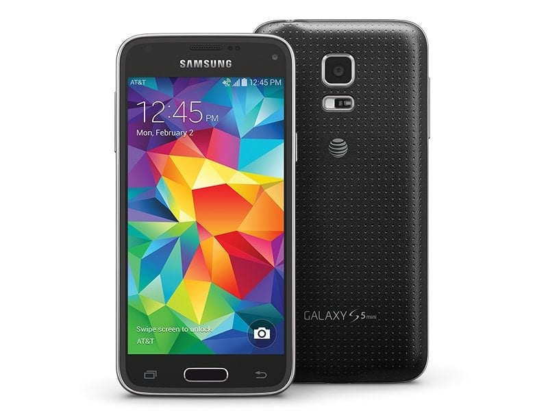 samsung galaxy s5 mini unlocked grade a black refurbiphones. Black Bedroom Furniture Sets. Home Design Ideas