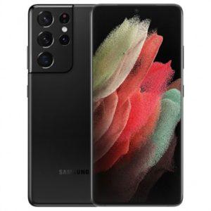 samsung s21 ultra 5g mobile phone in phantom black